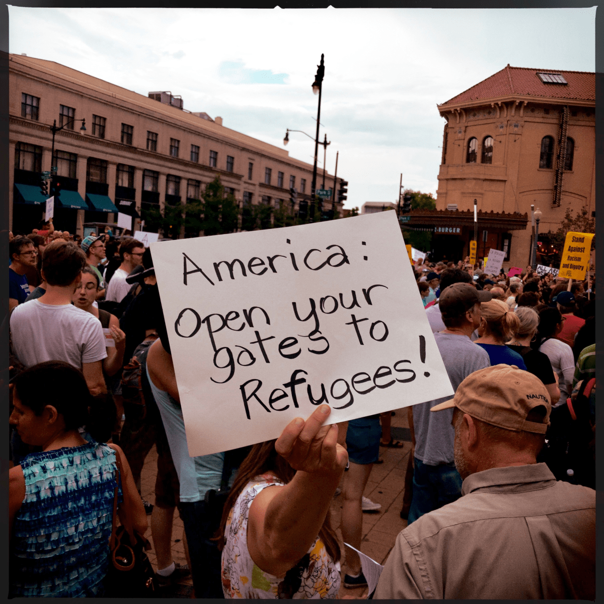 A rally against ICE in Columbia Heights on July 16.