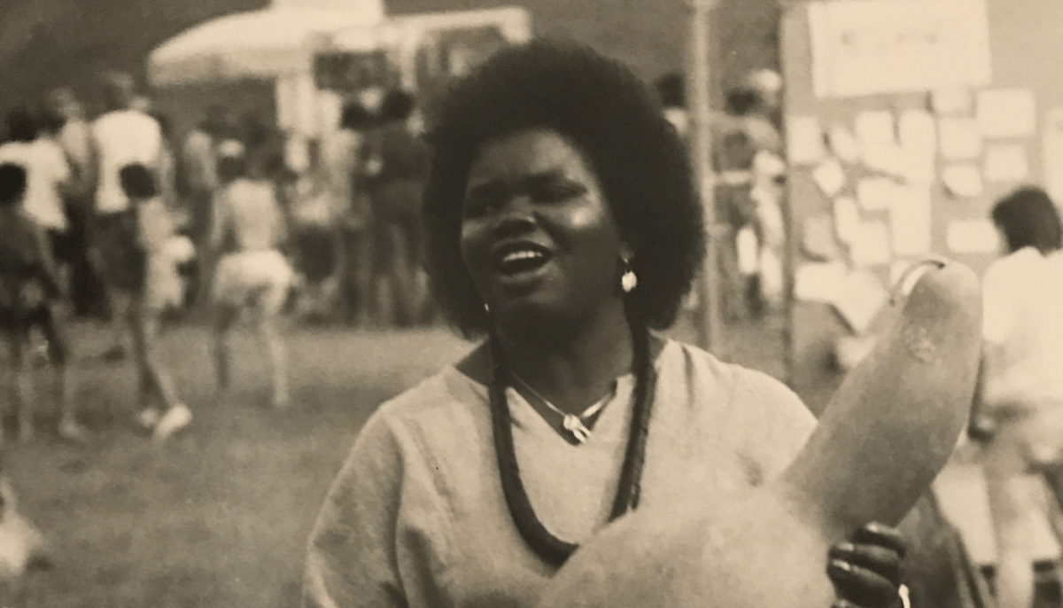Ysaye Maria Barnwell at a Sisterfire festival in the '80s.
