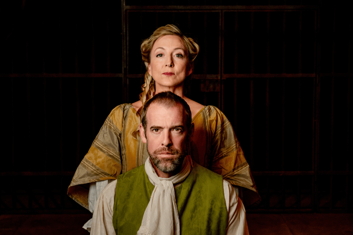 Ian Merrill Peakes (Macbeth) and Kate Eastwood Norris (Lady Macbeth)