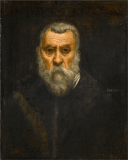 """Self-Portrait"" by Jacopo Tintoretto (c. 1588)"