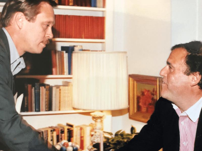 An undated photo of Tom Sherwood and Mark Plotkin