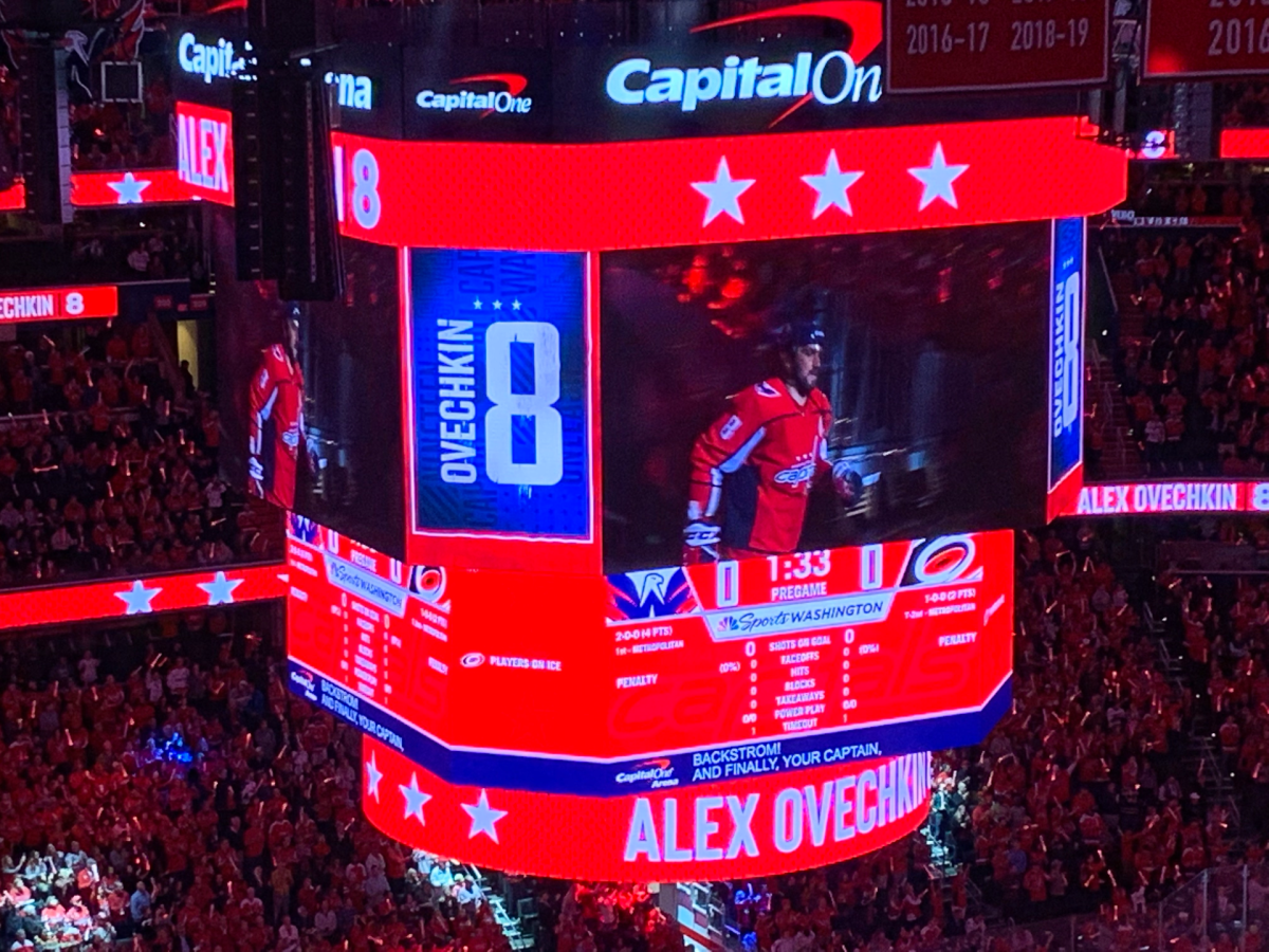 Alex Ovechkin introduced at the Capitals home opener home opener