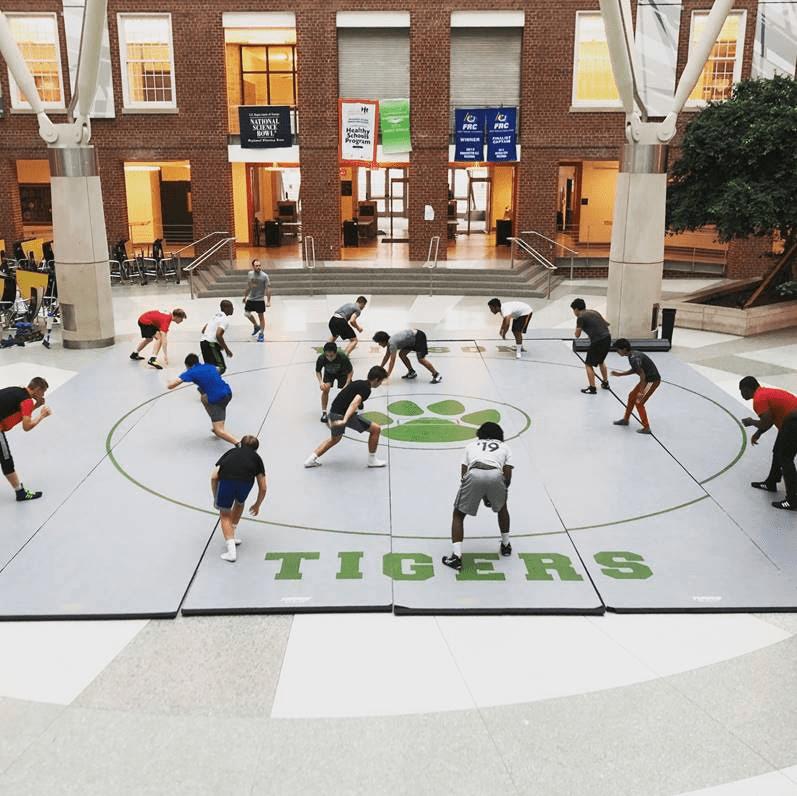 Practice at the Wilson High School atrium