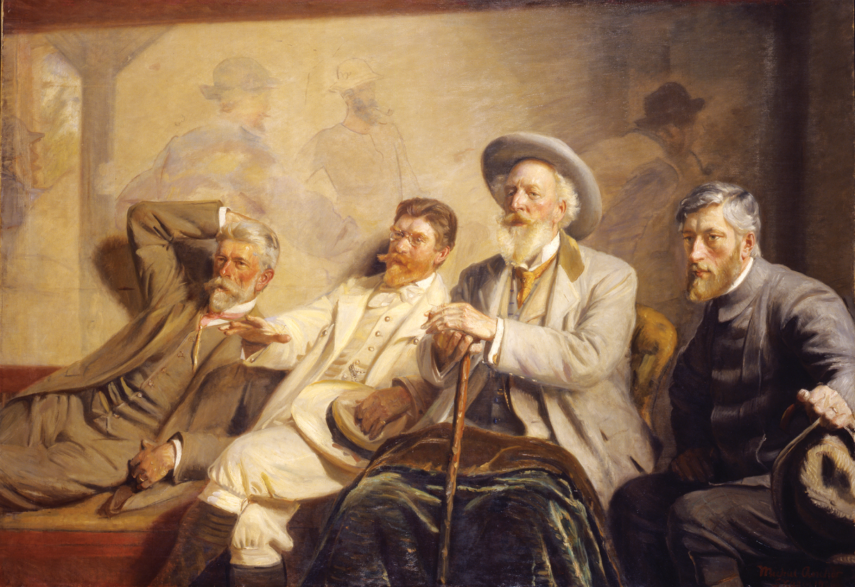"""""""Kunstdommere"""" by Michael Ancher, 1906"""