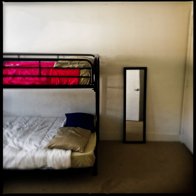 Photo of the inside of a domestic violence shelter.