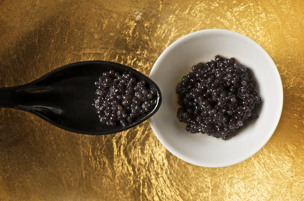 Caviar on a spoon
