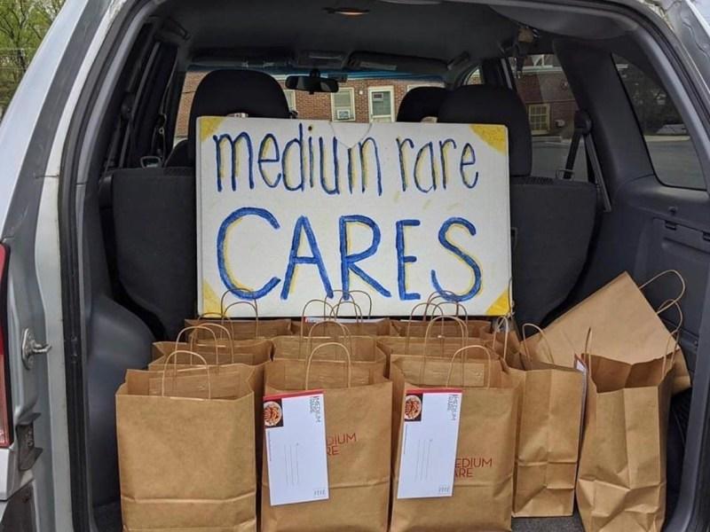 Van full of meals from Medium Rare