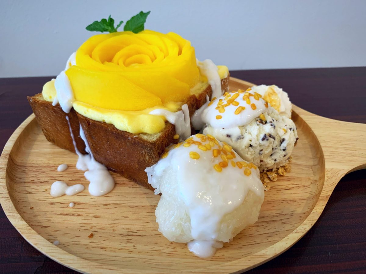 Sweeteria's mango sticky rice toast