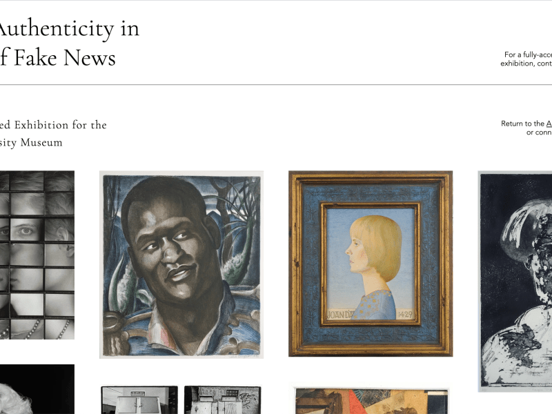 A screenshot of Art and Authenticity in the Age of Fake News