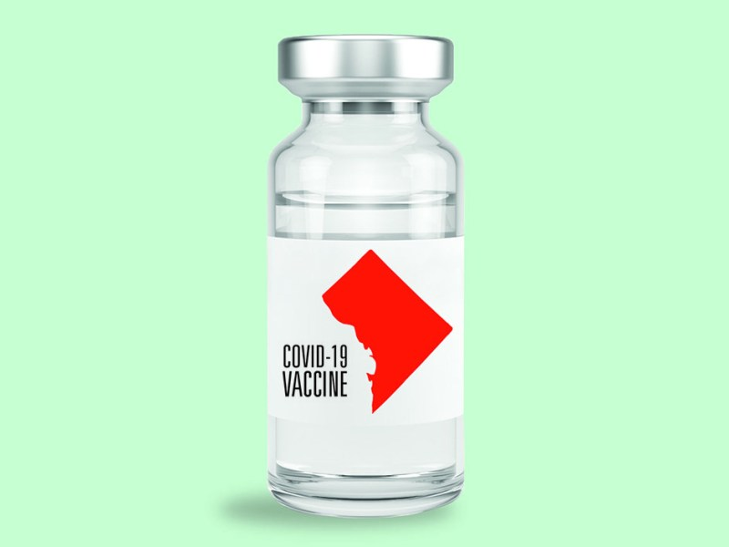 Illustration of coronavirus vaccine