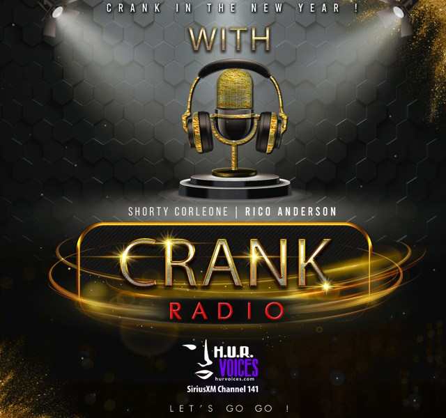 The promotional image for Crank Radio.