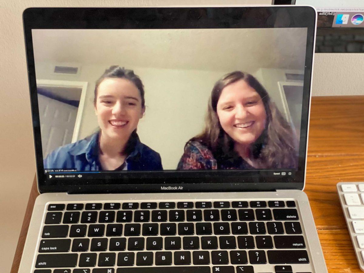 George Washington University students Sam Proulx-Whitcomb and Sarah Boxer