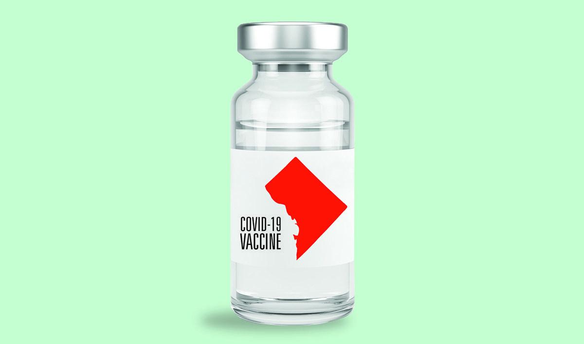 Illustration of covid-19 vaccine