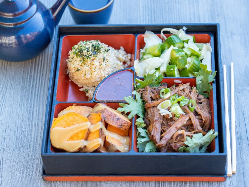 Korean beef bento box at Teaism