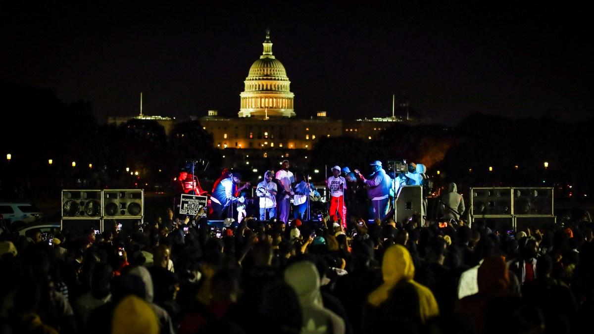 Backyard Band in front of the Capitol.