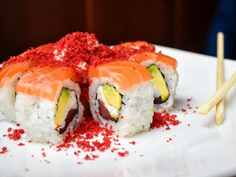 Sushi roll at The Hamilton