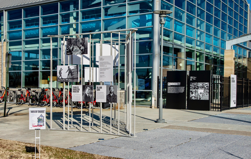 Images from the installation of Smithsonian's Anacostia Community Museum Men of Change: Taking it to the Streets exhibition.