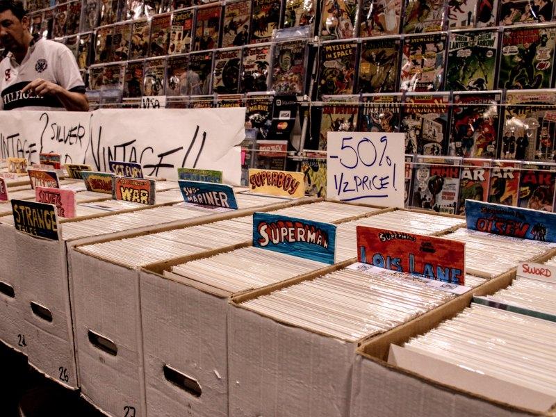 Comics, like the ones sold at Fantom Comics.