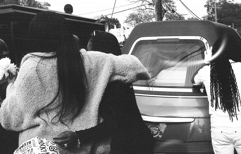 """Jaquar McNair died on Oct. 12 at 15 years old. This photo, """"Long Live Quar""""by Beverly Price, captures his funeral."""