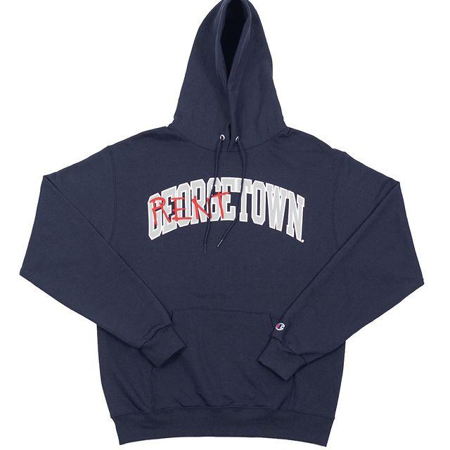 A Rent is Due RentTown sweatshirt. Rent Is Due will be at the Battle of da Hustlas pop-up.