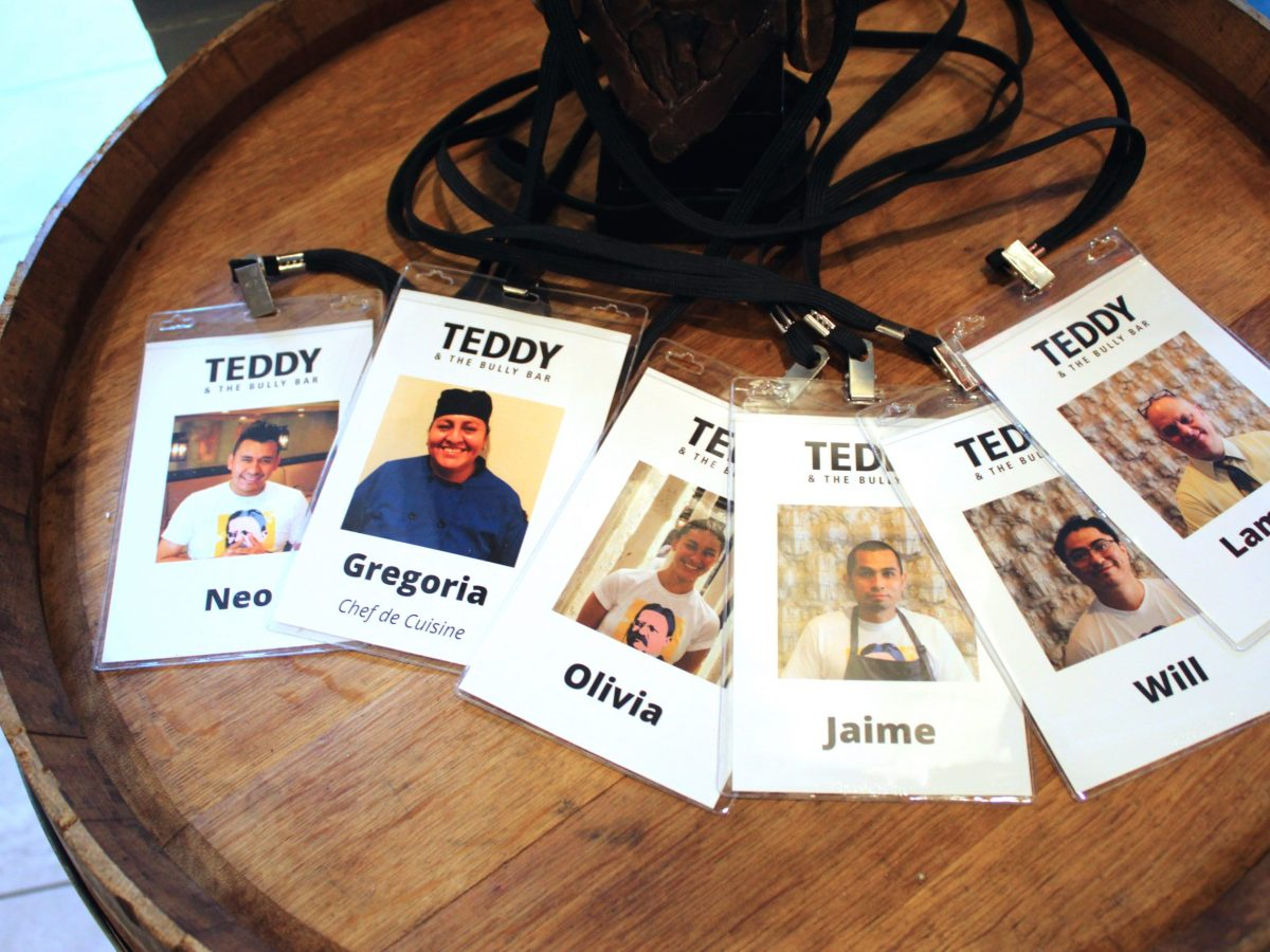 Photo lanyards for Teddy employees