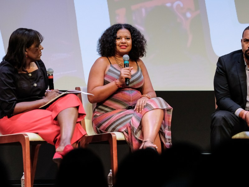 Scholar and member of the D.C. Commission on the Arts and Humanities Natalie Hopkinson at a panel discussion in 2019.