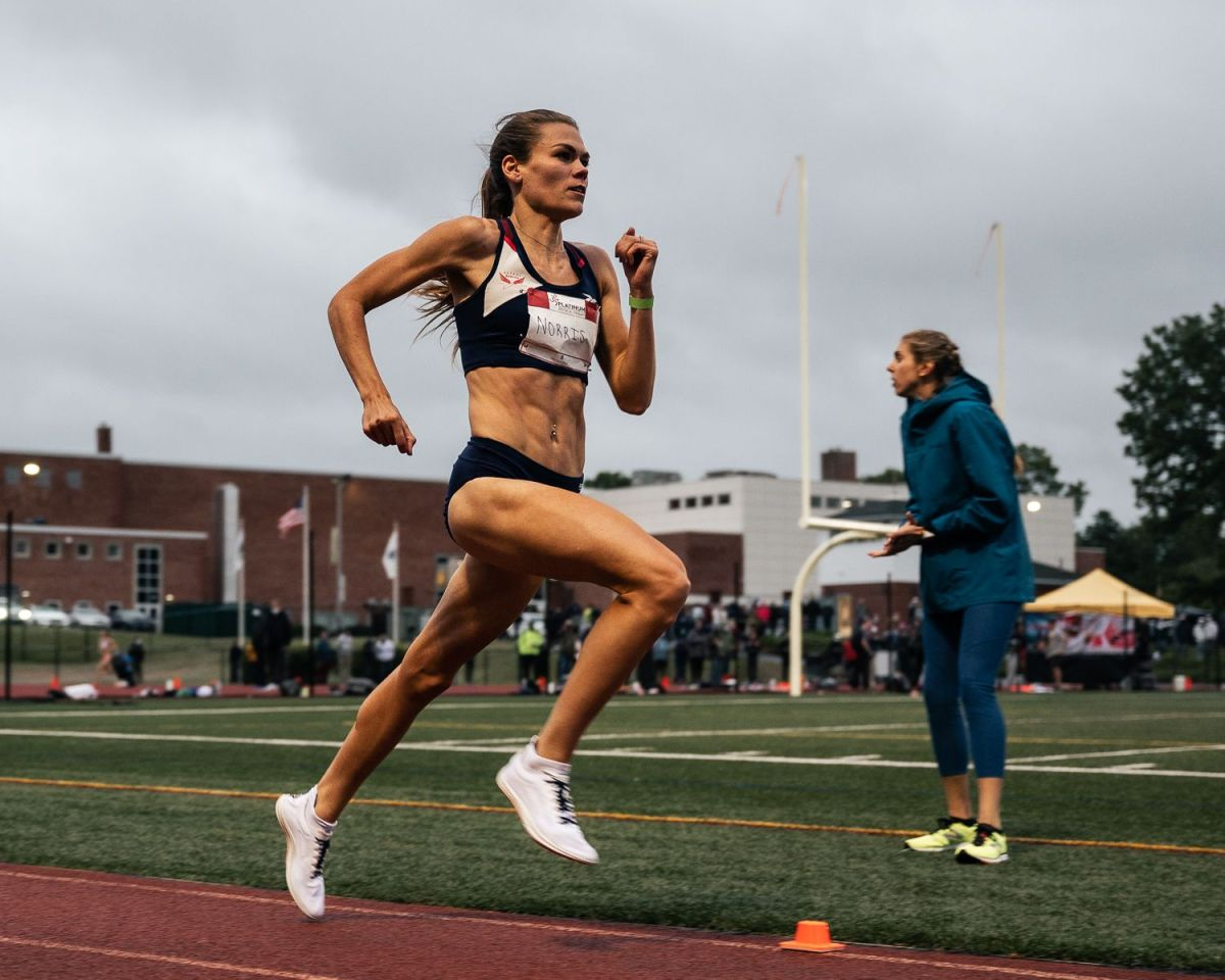 Josette Norris, a Georgetown University alumna who will race at the 2021 U.S. Olympic Track Trials