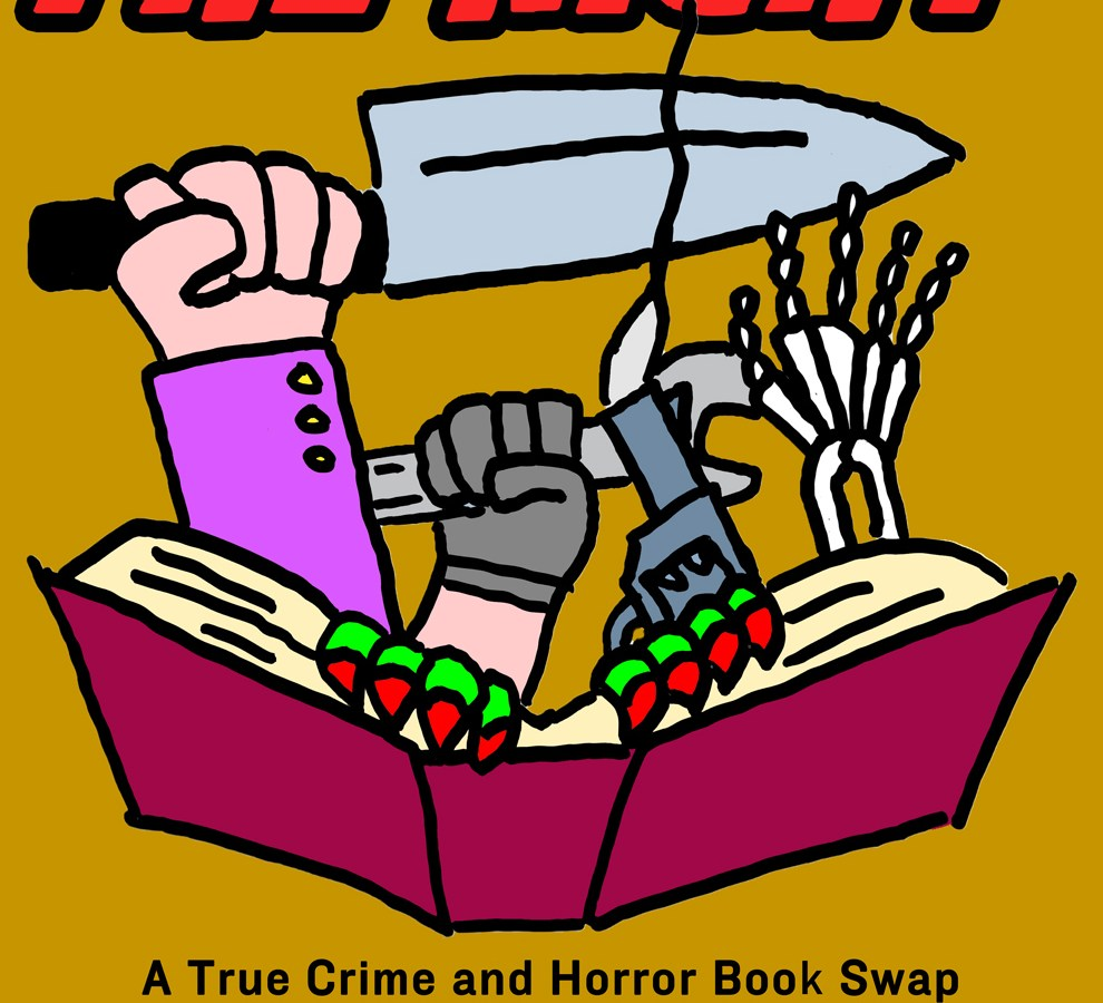 Bump in the Night, a horror and true crime book swap