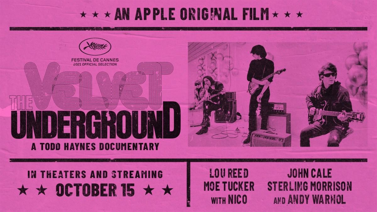 The poster for The Velvet Underground.