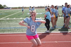 Junior, AnnaGrace Diharce shows off her dance moves.