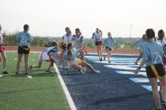 Junior, Chantel Pike makes it into the endzone.