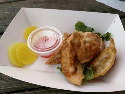 Pan fried dumpling from Gogi food truck.