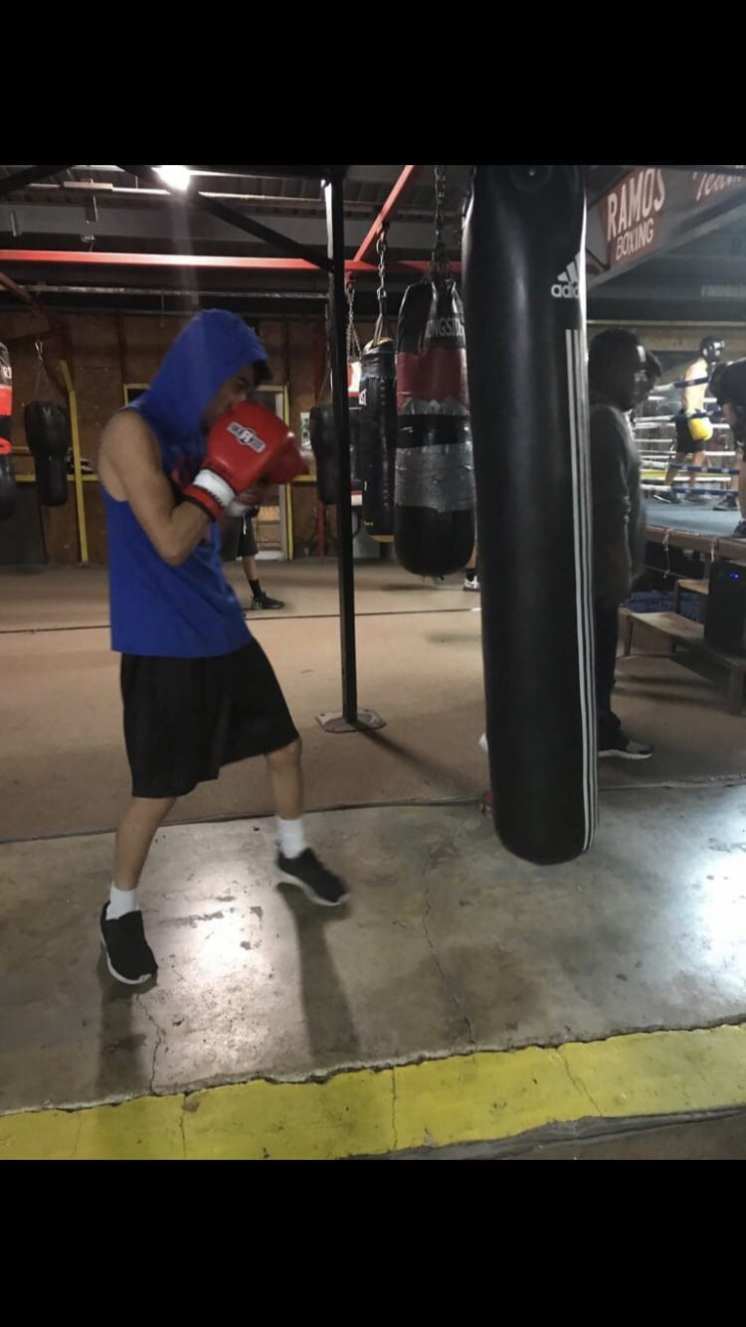 Kevin training in the gym.