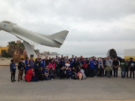 Group photo of all the cadets and parents before aborning the ship.