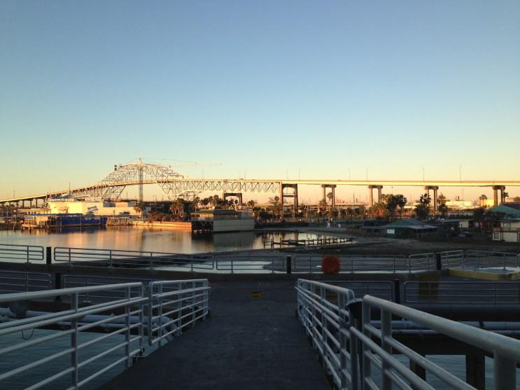 The beautiful bridge during early sunrise.