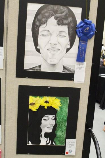 On top: Untitled by Jenna O'neal Title: Bottom: Cholula by Ana Hernadez