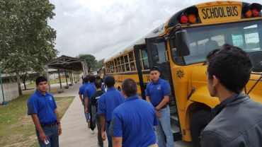 adets loading the busses