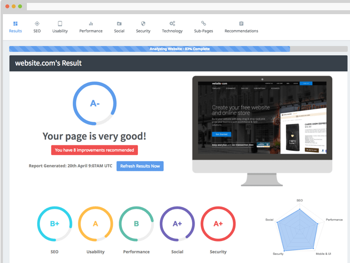 SEOptimer for your site to check SEO friendly