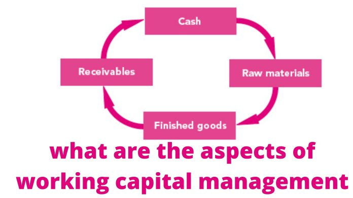 what are the aspects of working capital management1