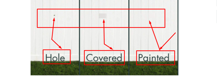 Steps to repair the larger holes of vinyl siding:
