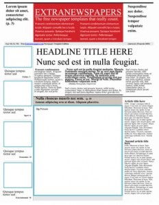 Old Fashioned Newspaper Template For Word