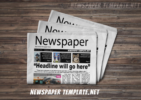 Newspaper Template  Microsoft Word Newspaper Templates for Kids     Newspaper Template