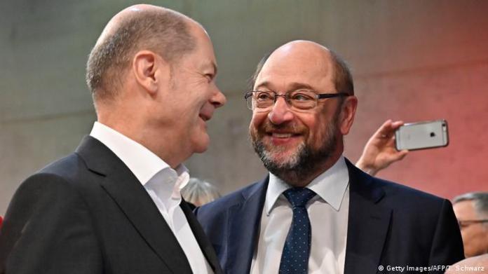 Olaf Scholz and Martin Schulz