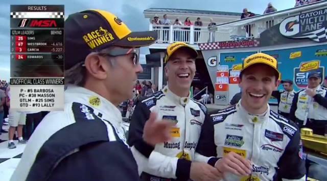 Filipe Albuquerque, João Barbosa e Christian Fittipaldi vencem as 6 Horas de Watkins Glen