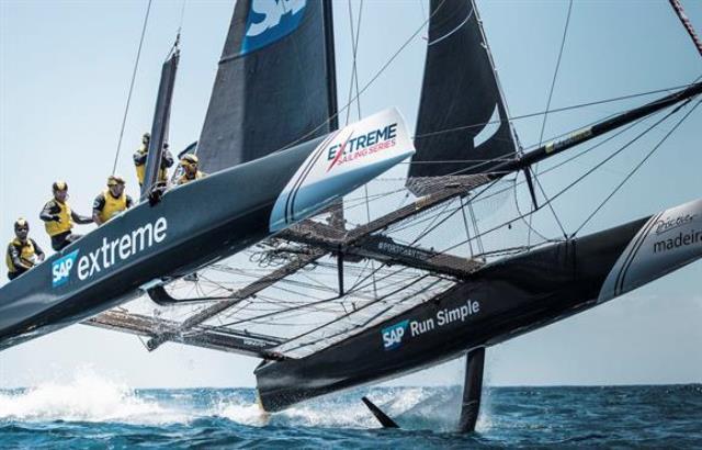 Emoção até ao fim na Extreme Sailing Series na Madeira