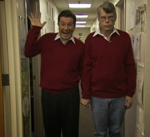Stephen King und Stephen Colbert