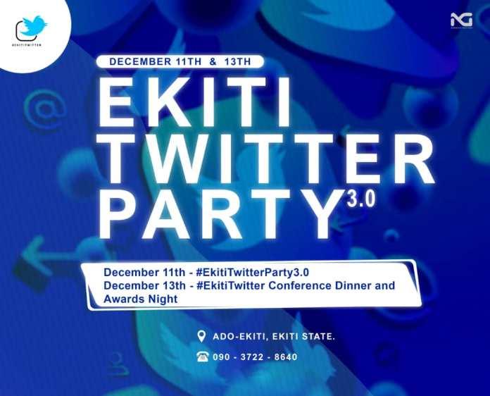 Ekiti Twitter Conference, Dinner & Awards To Hold December 13