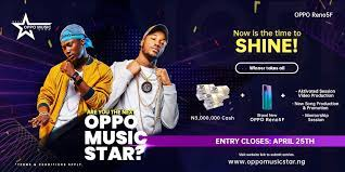 Win 3million Naira In OPPO Music Star Contest (Click Here To Apply)