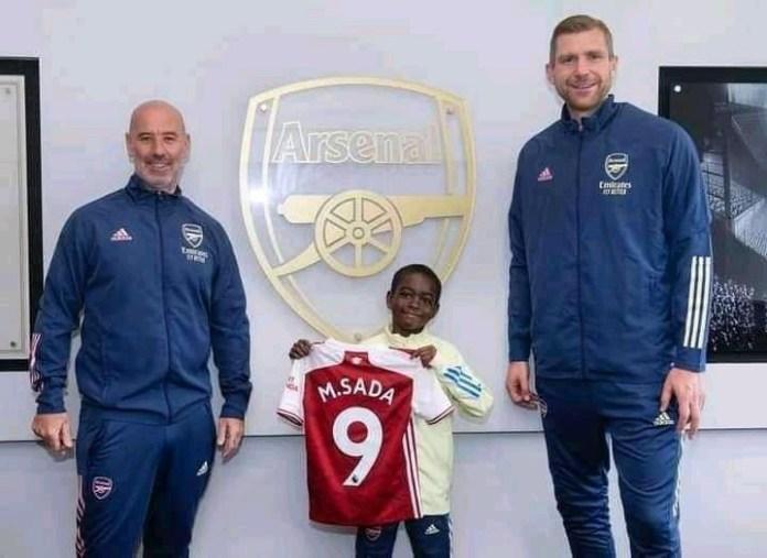 Arsenal Sign 9-year-old Nigerian Kid(See Photos)