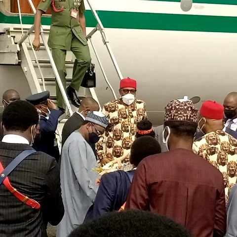 See Video As President Buhari Arrives Imo State